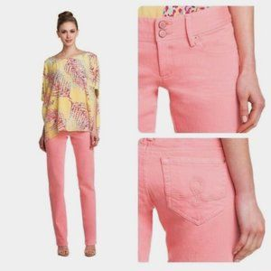 Lilly Pulitzer Coral Worth Straight Jeans Size 0